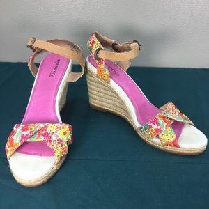 Sperry Saylor Liberty Espadrilles Wedge Heels sz 9